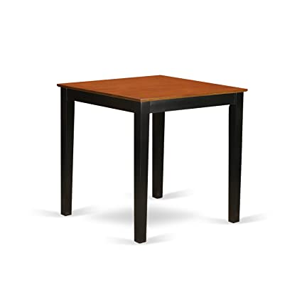 East West Furniture PBT BLK T Square Counter Height Pub Table, 36u0026quot;