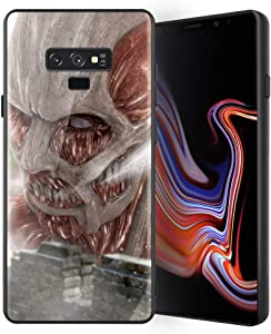 for Galaxy Note 9, Attack on Titan (Shiso no Kyojin) Design 388 Tempered Glass Phone Case, Anti-Scratch Soft Silicone Bumper Ultra-Thin Galaxy Note 9 Cover for Teens and Adults