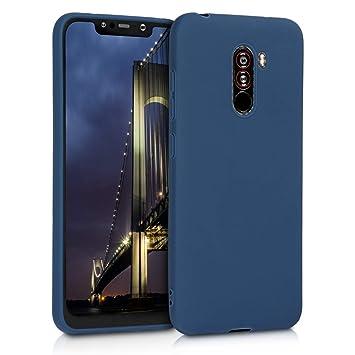 kwmobile Funda para Xiaomi Pocophone F1 - Carcasa para móvil en TPU Silicona - Protector Trasero en Azul Marino