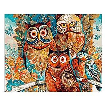 Amazon Wonzom 油絵 数字キットによる絵画 塗り絵 大人 手塗り Diy絵