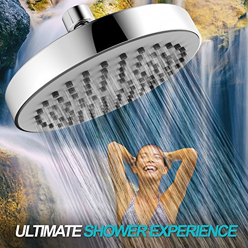 Shower Head - High Pressure Rain - Luxury Modern Look - Easy Tool Free Installation - The Perfect Adjustable & Heavy Duty Universal Replacement For Your Bathroom Shower Heads by SparkPod (Image #5)