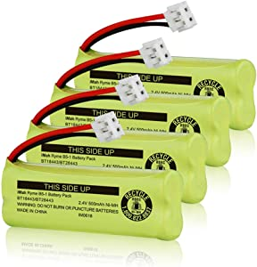 iMah BT18443/BT28443 2.4V 500mAh Ni-MH Cordless Phone Battery Compatible with VTech LS6115 LS6117 LS6125 LS6126 LS6225 Wireless Telephone, Pack of 4