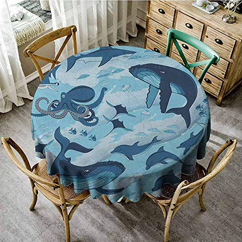 Rank-T Round Tablecloth Outdoor Fitted 40