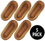 KOVOT Poly-Wicker Bread Baskets Set of 5 - 14.5'' Woven Polypropylene (5 Total Baskets)