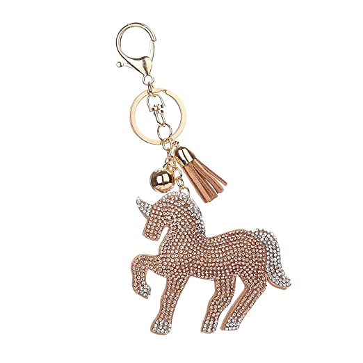 MonkeyJack Women Girls Bag Purse Pendant Keyring Keychain Car Key Hanger  Accessories - Champagne fbdf759e5e
