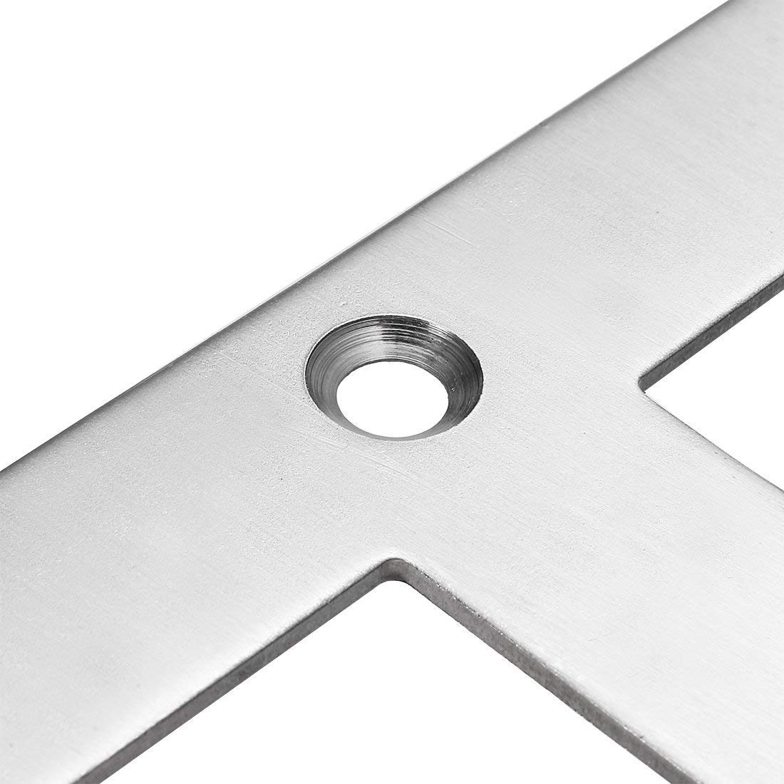 Joint Fastener Windows Cyful Heavy Duty Stainless Steel Flat Plate T Shape 90 Degree Angle Corner Brace Screens Chests Brushed Finish,120mmx120mm//4.7-inch x 4.7 Shelf Support for Wood Furniture