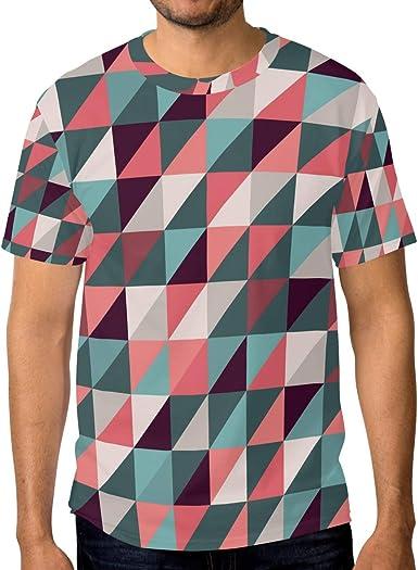 Camiseta de manga corta para hombre, diseño de mosaico ...