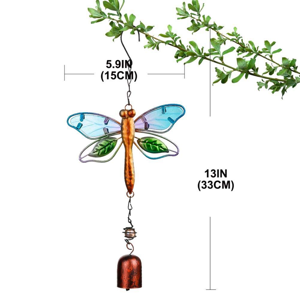Tingtin Handmade Wind Chimes Butterfly Decoration Wind Chimes for Wall Doors Windows Wind Chimes Hanging Ornaments Retro Home Decorative Crafts