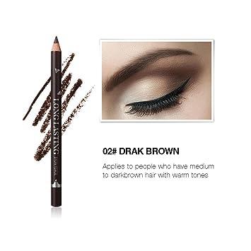 52d63043feb Amazon.com : Eyebrow Pencil Waterproof Eye Brow Eyeliner Eyebrow Pen Pencil  With Brush Makeup Cosmetic Tools Maquiagem Coffee : Beauty