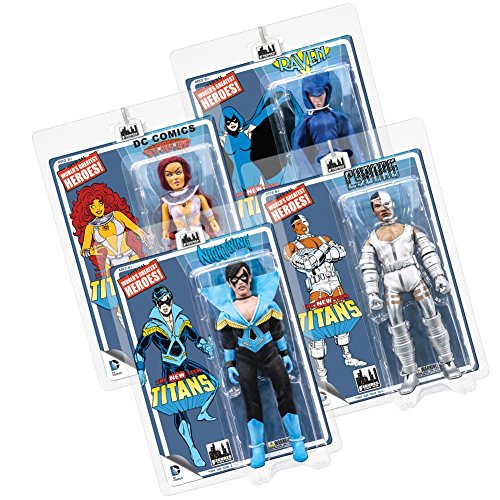 The New Teen Titans Retro 8 Inch Action Figures Series 1: Set of all 4 ()