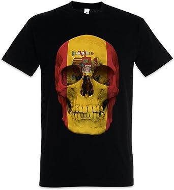 Urban Backwoods Classic Spain Skull Flag Camiseta De Hombre T-Shirt: Amazon.es: Ropa y accesorios
