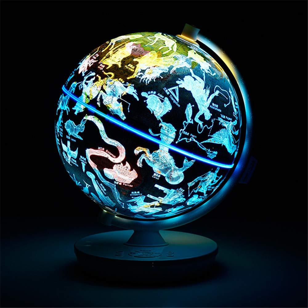 Swivel Globe Kinder Voice Interactive 3D AR Globe HD Studenten Horoskop Lampe Innenausstattung Nachtlicht für Desktop Office Home Decoration
