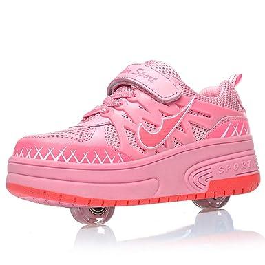 comprando ora Raccogliere grande sconto MNVOA Scarpe Roller per Bambini Unisex Doppie Ruote Scarpe ...