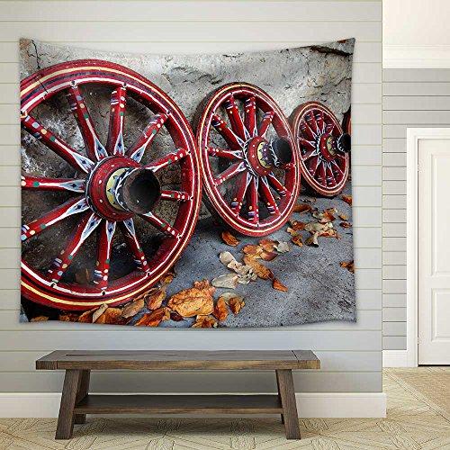 Bulgarian Wagon Wheel Paint Fabric Wall Tapestry