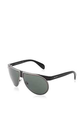 75de14fd6ef ... italy prada pr23ps sunglasses 1bo 3o1 matte black matte gunmet gray  green lens d0ceb 9b549 ...