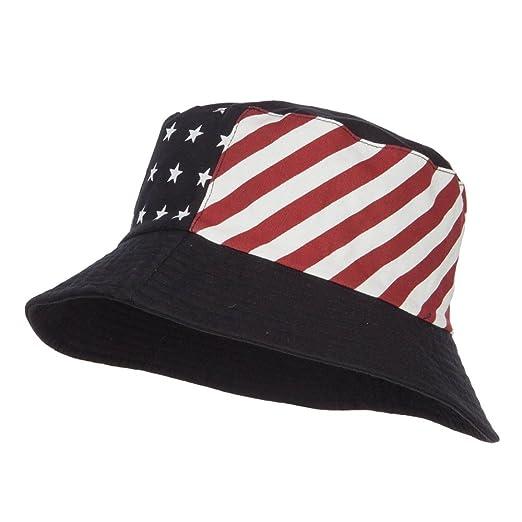 1aa9362b63d68d Reversible American Flag Bucket Hat - Black OSFM at Amazon Men's ...