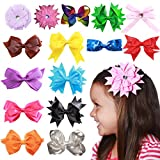 15pc 4.5in Hair Bows Clips for Baby Girls Kids Teens Women Accessories Educational Toy or Gift Crafts