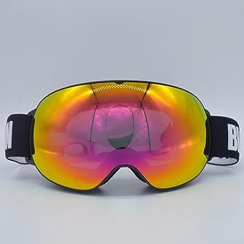 KHSKX Polarizado gafas de esquí de nieve exterior grande doble Gafas antivaho Cocker myopiaA