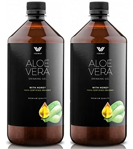Premium 100% Aloe Vera – Gel con miel – 100% BIO Aloe Vera Zumo