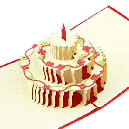 3D pop-up tarjetas de pastel de cumpleaños feliz con linda ...