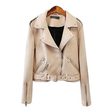 huge sale d0a02 84c7a Baymate Damen Classics Jacke Elegant Wildleder Suede Kurz Jacket Outwear