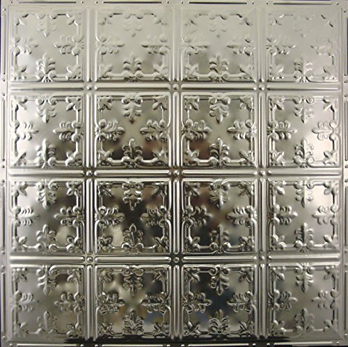 5 pcs of Tin Ceiling Tile #121, Unfinished Nail-up for Tin Backplash or Ceiling
