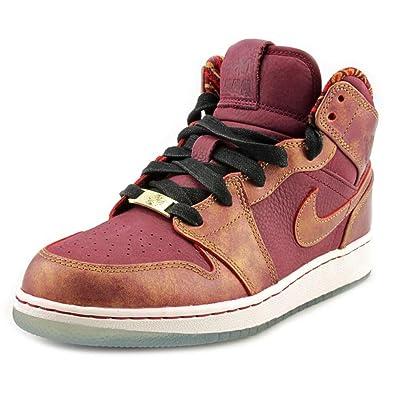 size 40 6a2de b7bdd Nike Air Jordan 1 Mid BHM GS BHM - Deep Garnet Gold (647562-605