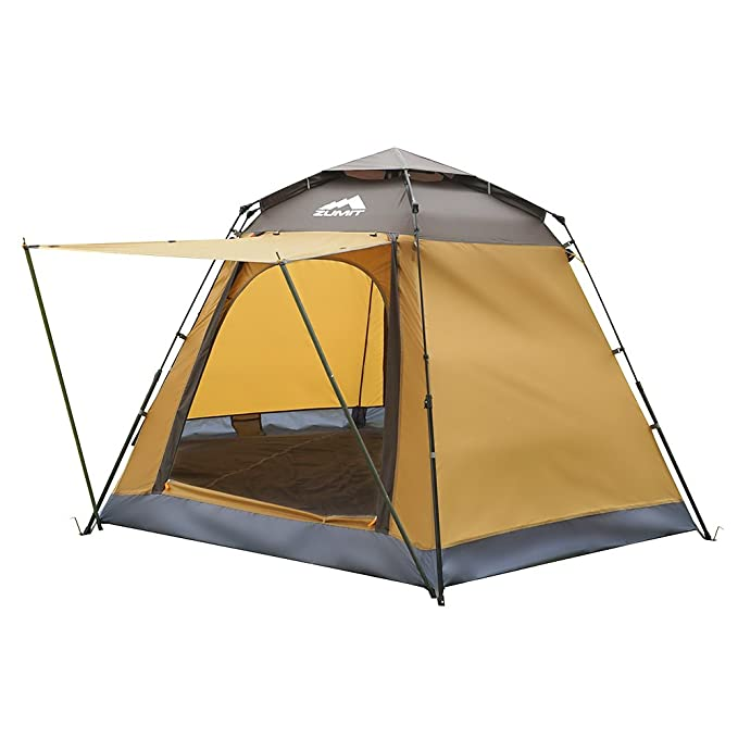 ZUMIT Tent for Camping 2-5 Person Waterproof Dome Shelter Family Cabin Automatic Outdoor Instant Backpacking Tent