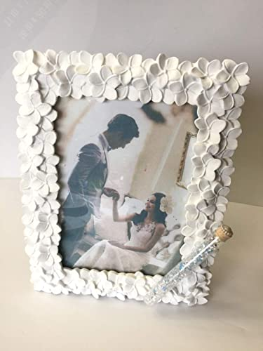 Amazon.com: Jewish Wedding White Flowers Photo Picture Frame With a ...