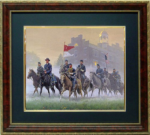 General Buford Morning Riders Framed Print Civil War Art By Mort Kunstler - Paintings Civil War