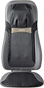HoMedics Shiatsu Elite II Massage Cushion with Soothing Heat 2 Back Massage Styles, 3 Massage Zones, Spot Massage, Controller and Chair Straps