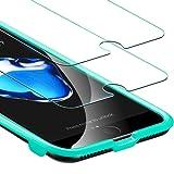 iPhone 8 / 7 Panzerglas Schutzfolie (2 Stück), iPhone 8 7 6 6S Panzerglas Schutzfolie, ESR 0.3mm 9H Schutzfolie mit Installation Werkzeug Displayschutz Panzerglasfolie für iPhone 8/7/6/6S (4,7 Zoll)