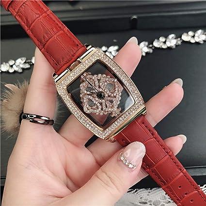 Sxfcool Reloj de señoras Vintage Reloj de Moda de Diamantes de Calado de la Mujer (