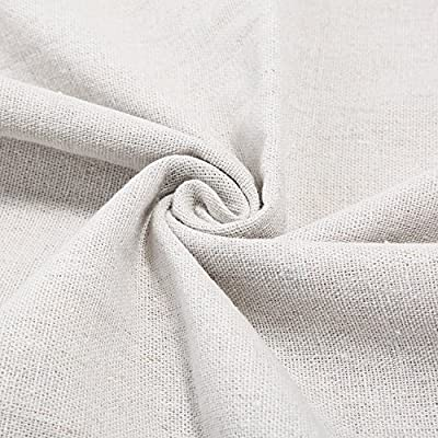 Solid Color Linen Needlework Fabric for Craft Projects and Garments,Cross Stitch Cloth 20 inches by 60 inches Creamy White