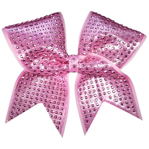 - Charmed Pink-Shimmer Cheer Bow