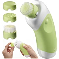 Body Essentials Deep Cleansing Facial Brush and Massager (Green)