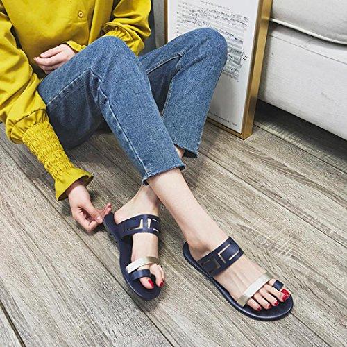Mixte Amovibles Creux Tongs Tongs Sandales Mode Fille Sandales Flat Beautyjourney Spartiate Bleu Ado Sandales Talon Été Casual Sandals Semelles Sandale Sexy w7qIxUntE