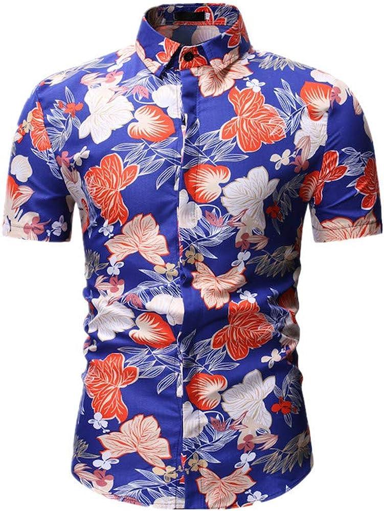 Fansu 3D Camisa Hawaiana para Hombre, Fiesta Tropical de Manga Corta Impreso Camisas de Trabajo Surf Funky Camisa Señores (M, Azul): Amazon.es: Ropa y accesorios