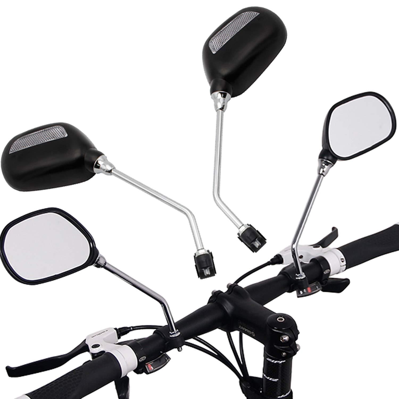 Miafamily Ein Paar Universal Motorrad rü ckspiegel Lenkspiegel Verstellbar, Fü r Standard-Lenker Fahrrad Spiegel Set-Schwarz (Oval)