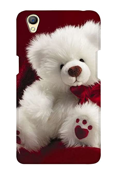 the latest ca96a da9d9 AMAN White Teddy Bear 3D Back Cover for Oppo A37: Amazon.in: Electronics
