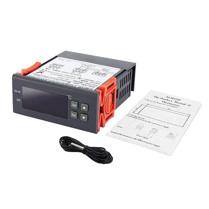 WOSOSYEYO AL8010F 220V Termostato de Pantalla Digital Interruptor ...