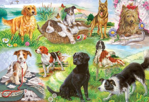 Gibsons Wagging Tails Jigsaw Puzzle (500 Pieces) Beagle Springer Spaniel