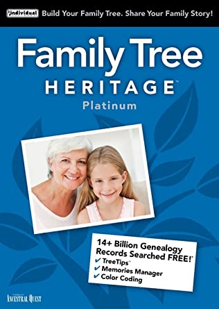 amazon com family tree heritage platinum 15 windows download