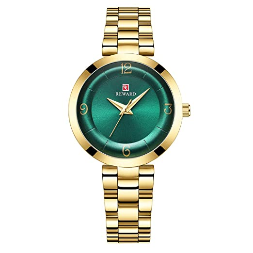 Allskid Mujer Relojes Especial Curvo Marcar Diseño Acero Correa de Reloj Cuarzo Relojes de Pulsera