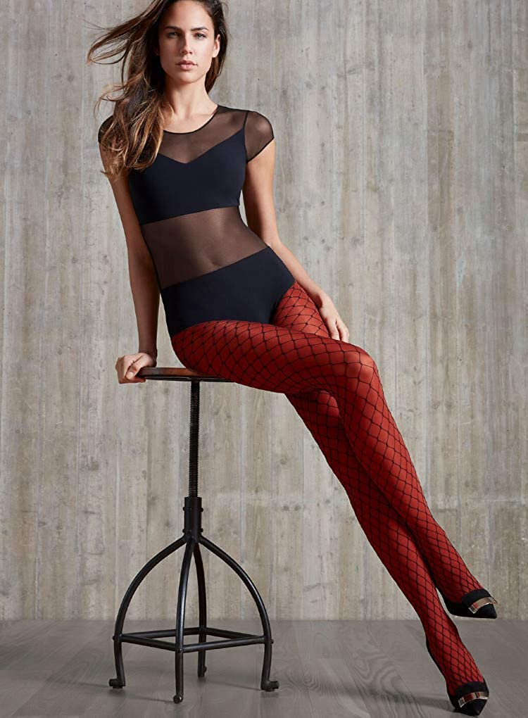 57907e142b2c9 Oroblu Fishnet Glamour and Coloured Tights-L/XL-Deep Colour Set at Amazon  Women's Clothing store: