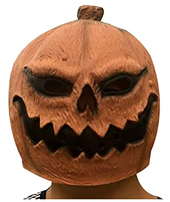 wanture Latex Pumpkin Mask Halloween Cosplay Ghost Deluxe Costume Party Head Mask