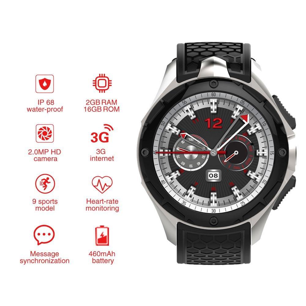 Amazon.com: AllCall W2 Smartwatch(2018 Upgrated), IP68 ...