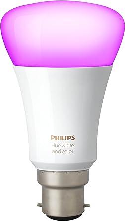 Philips Hue Bombilla LED B22, 10 W (potencia equivalente 60W), 220 V-240 V, Ángulo de haz -160°...