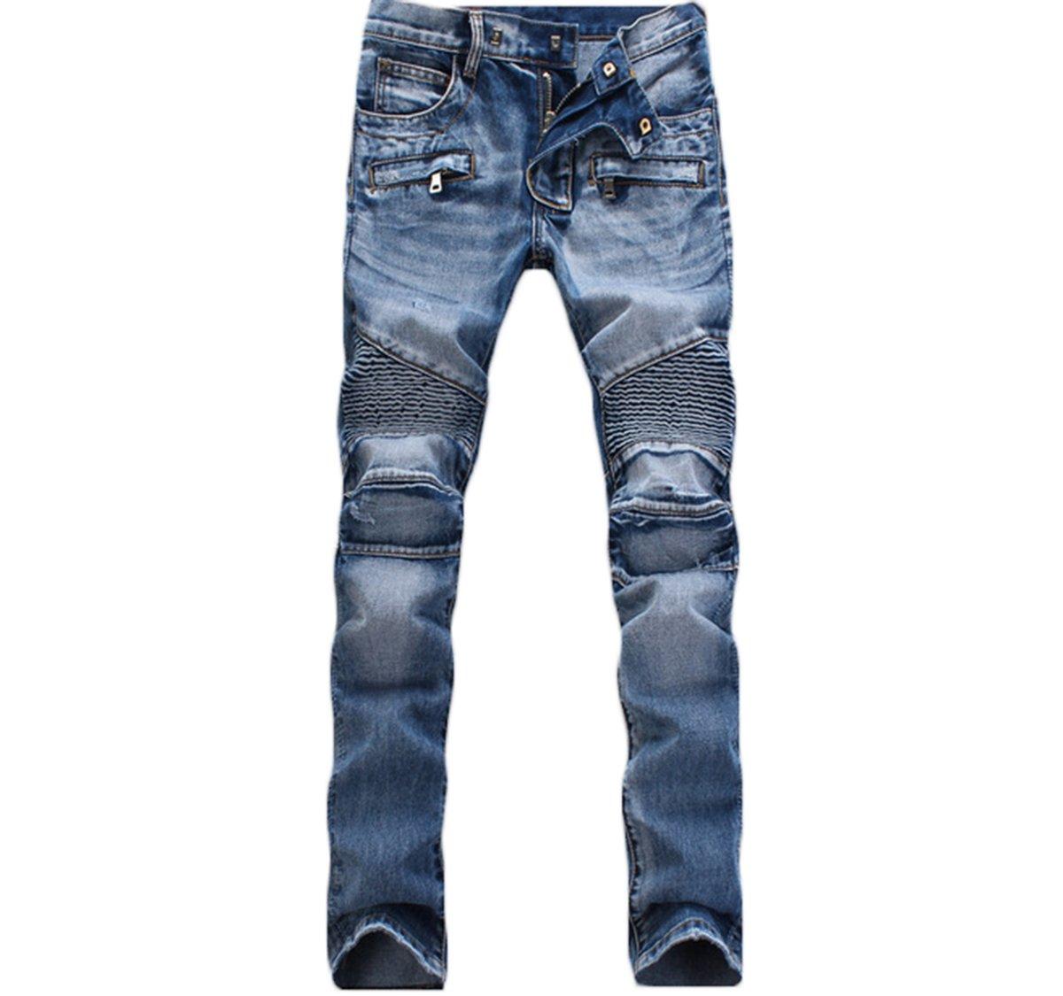 MAGE MALE PANTS メンズ B0772R12QL 36 W ブルー ブルー 36 W