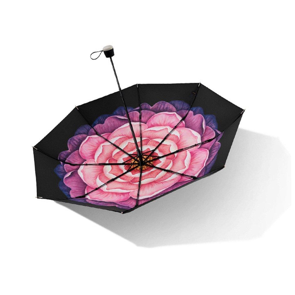 L@LILI Parapluie Solaire Femmes Parapluie Parapluie Pliant UV Soleil Parapluie